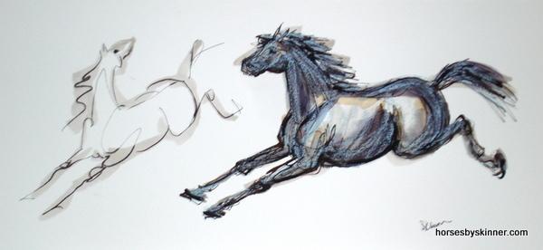 Original Equestrian Art. Deborah Skinner